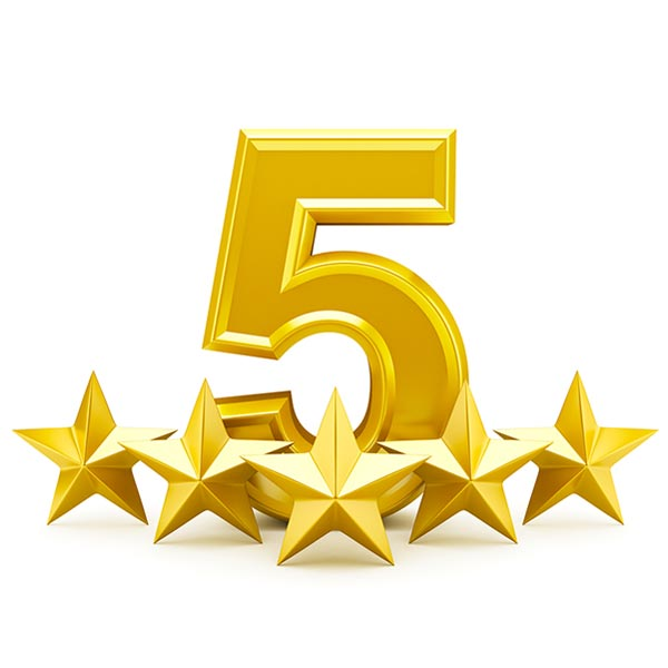 5 rate reviews