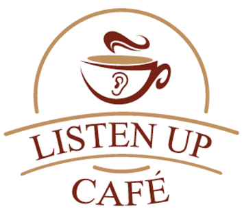listen up cafe logo