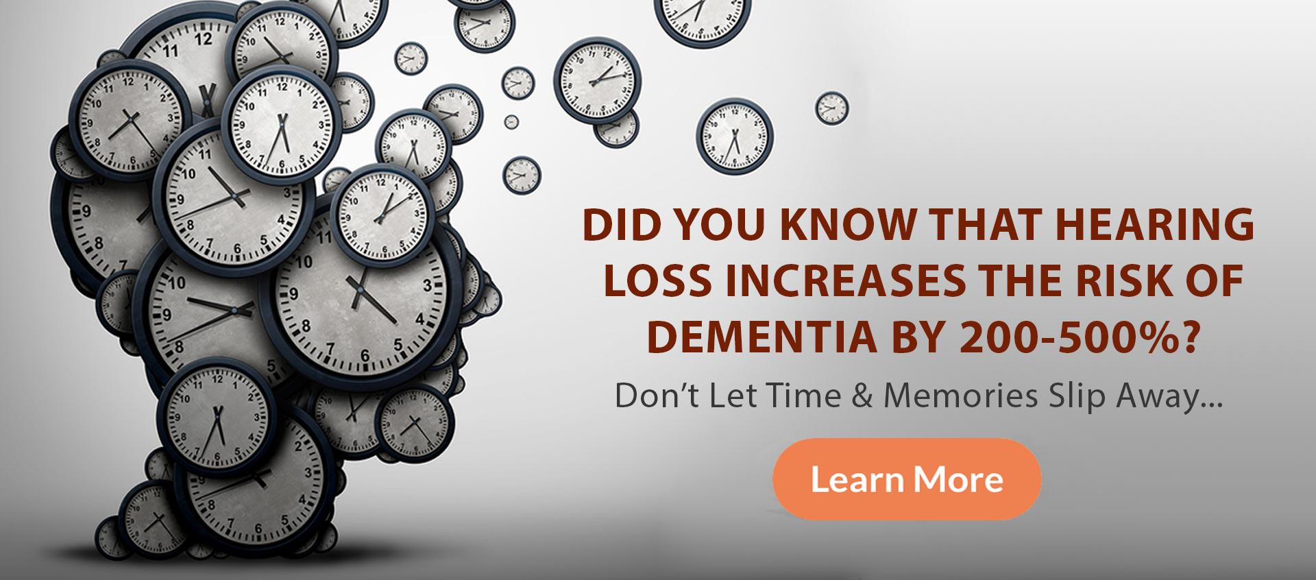 hearing loss increases dementia